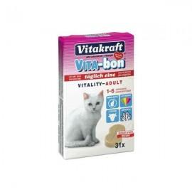Vitamine pentru pisici, Vitakraft, Vita-Bon, 31 TBL