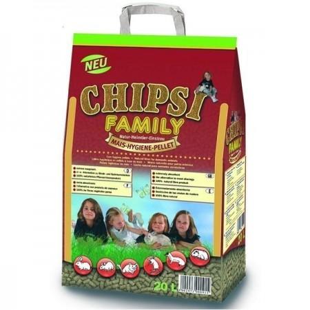 Asternut pentru rozatoare si pasari, Chipsi, Family, 20 l