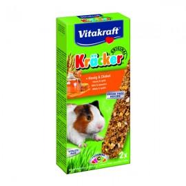 Hrana pentru rozatoare, Vitakraft, G Pig, Baton Miere/Grau Spelt, x 2 BUC