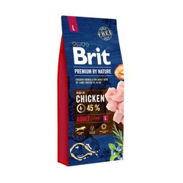 Hrana uscata pentru caini, Brit Premium, By Nature, Adult L, 15 Kg