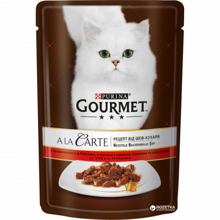 Gourmet A La Carte, Vită şi Legume, 85g