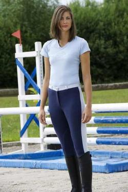 Pantaloni echitatie dama, Ekkia, Pro Fun Line Denim 40 979320040