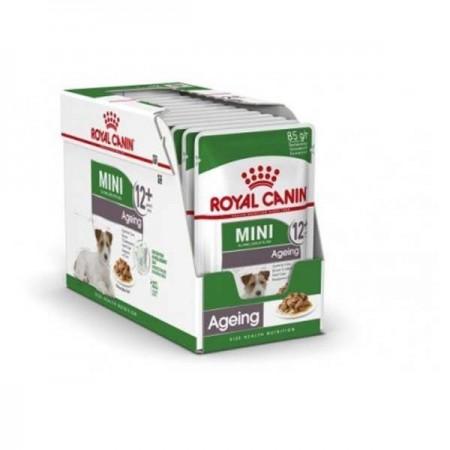 Hrana umeda pentru caini, Royal Canin, Mini Ageing, Box 12 x 85G