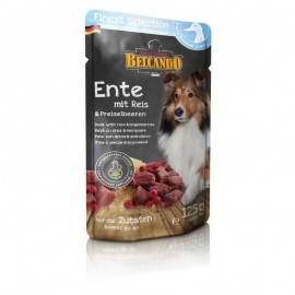 Hrana umeda pentru caini, Belcando, Rata Orez si Merisoare, 300 G