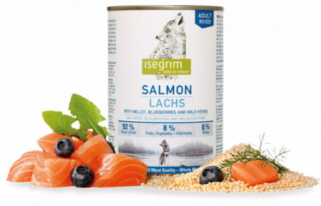 Hrana umeda pentru caini, Isegrim Salmon, 400 G