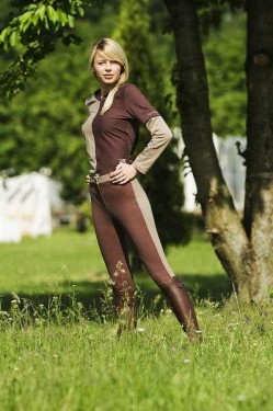 Pantaloni echitatie dama, Ekkia, Pro Fun Line Burgundy 42 979321042