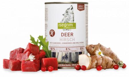 Hrana umeda pentru caini, Isegrim, Deer, 400 G