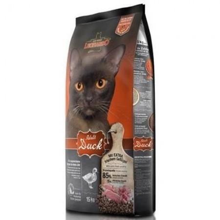 Hrana uscata pentru pisici, Leonardo, Adult Sensitive Rata, 15 Kg
