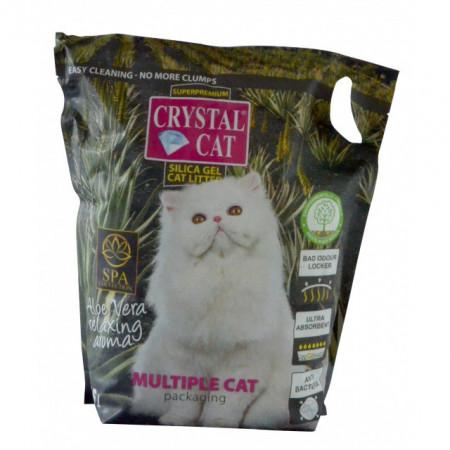 Silicat pentru pisici, Crystal Cat, Aloe Vera, 7.6 L