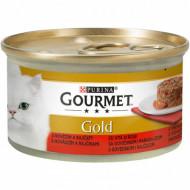 Hrana umeda pentru pisici, Gourmet Gold Savoury Cake cu vită și roșii, 24 x 85g