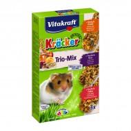 Baton pentru rozatoare, Vitakraft, Hamsteri, Trio Mix Fructe, Miere/Nuci/Fructe, x 3 BUC