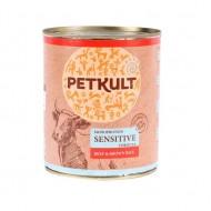Hrana umeda pentru caini, Petkult Vita si Orez brun, 800 g