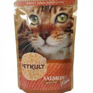 Hrana umeda pentru pisici, Petkult Cat, Somon, 100G