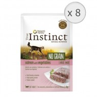 Hrana umeda pentru pisici True Instinct, No Grain Adult cu Somon, 8 bucx70g
