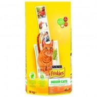 Hrana uscata pentru pisici, Friskies, Adult Indoor Pui si Legume, 10 Kg