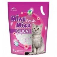 Nisip silicatic pentru pisici, Miau Miau, Silicat, 8L