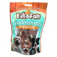 Recompense pentru caini, Eat&Fun, Chick'n Stick Bites, 100 G