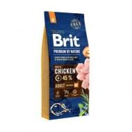 Hrana uscata pentru caini, Brit Premium, By Nature, Adult M, 15 Kg