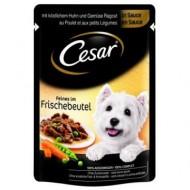 Hrana umeda pentru caini, Cesar, Pui si Legume in Sos, Plic 100 g