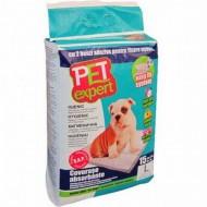 Covorase absorbante pentru caini, Pet Expert XL, cu benzi adezive, 60X90CM
