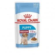 Hrana umeda pentru caini, Royal Canin, Medium Puppy, Box 10 x 140 G