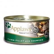 Hrana umeda pentru pisici, Applaws Ton si Alge Marine, 156 g