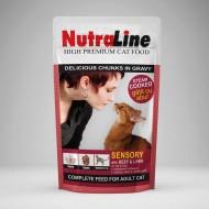 Hrana umeda pentru pisici, Nutraline, Sensory Vita Ficat, 100 G