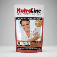 Hrana umeda pentru pisici, Nutraline, Sterilised, 24 buc x 100 g