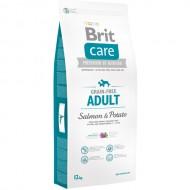 Hrana pentru caini, Brit Care, Grain-free Adult Salmon and Potato, 12 kg