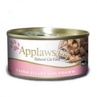 Hrana umeda pentru pisici, Applaws Ton si Creveti, 156 g