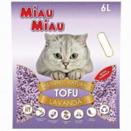 Asternut igienic pentru pisici, Miau Miau, Tofu, Lavanda, 6 L