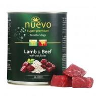 Hrana umeda pentru caini, Nuevo, Senior Miel si Vita, conserva 800 g