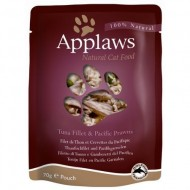 Hrana umeda pentru pisici, Applaws, Ton cu Creveti, 12x70 g