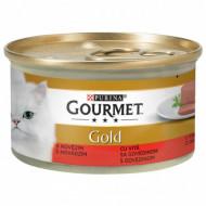Hrana umeda pentru pisici, Gourmet Gold, Mousse de Vita, 24 X 85g