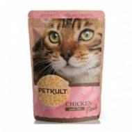 Hrana umeda pentru pisici, Petkult Cat, Pui, 100G