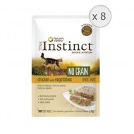 Hrana umeda pentru pisici True Instinct, No Grain Adult cu Pui, 8 bucx70g
