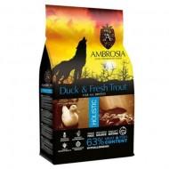 Hrana uscata pentru caini, Ambrosia Grain Free, Adult, Rata si Pastrav, 12 Kg