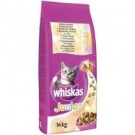 Hrana uscata pentru pisici, Whiskas, Junior Pui, 14Kg