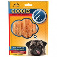 Recompense pentru caini, 4Dog, Goodies Rawhide Sticks with Chicken, 100G