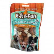 Recompense pentru caini, Eat&Fun, Chicken Calcium Bones, 100 G