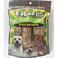 Recompense pentru caini, Eat&Fun, Rib Rolls, 275 G