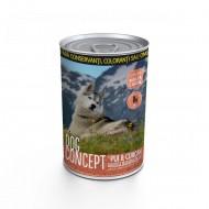 Hrana umeda pentru caini, Dog Concept, Curcan si Pui, 415 G