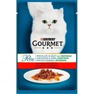 Hrana umeda pentru pisici, Gourmet Perle, Vita & Morcovi in sos, 24 X 85g