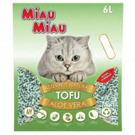 Asternut igienic pentru pisici, Miau Miau, Tofu, Aloe Vera, 6 L