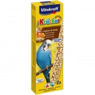 Baton pentru pasari, Vitakraft, Perus Popcorn si Miere, 2 Buc