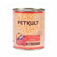 Hrana umeda pentru caini, PetKult Adult, Vita, 800G