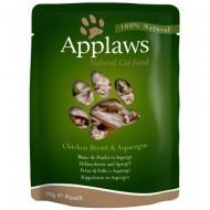Hrana umeda pentru pisici, Applaws, Piept de Pui cu Sparanghel, 12x70 g