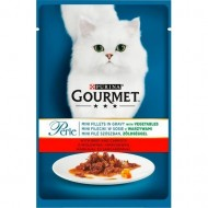 Hrana umeda pentru pisici, Gourmet Perle, Vita & Morcovi in sos, 85g