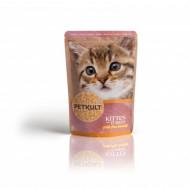 Hrana umeda pentru pisici, Petkult Kitten, Curcan,100G
