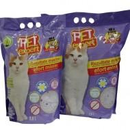 Nisip pentru pisici, Pet Expert, Silicatic, Lavanda, 3.8 L
